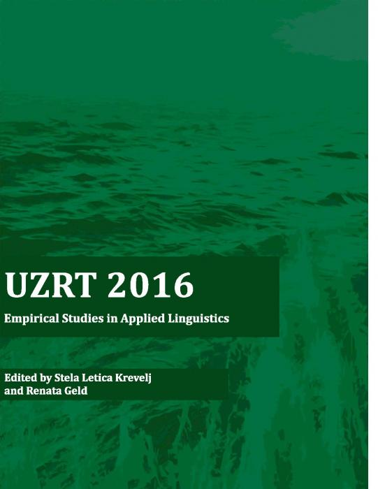Korice UZRT 2016: empirical studies in applied linguistics